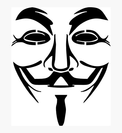 Anonymous Mask Silhouette Photographic Print