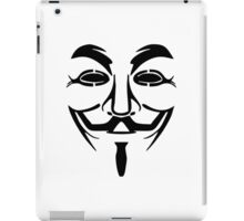 Anonymous Mask Silhouette iPad Case/Skin