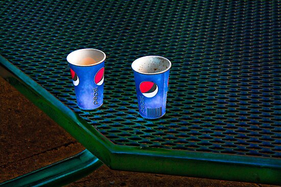 Still Life With Pepsi Cups by Peter Maeck