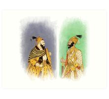 Mughal Emperors  Art Print