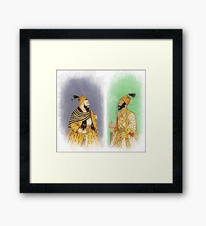 Mughal Emperors  Framed Print