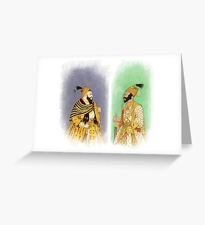 Mughal Emperors  Greeting Card