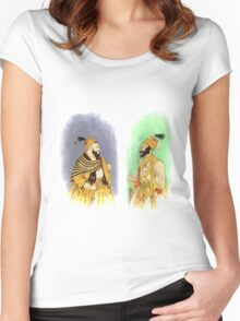 Mughal Emperors  Women's Fitted Scoop T-Shirt