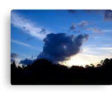Elephant Clouds Canvas Print