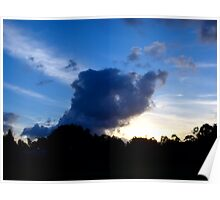 Elephant Clouds Poster