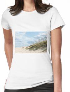 Beach Grass on Dunes Womens Fitted T-Shirt