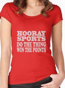 Hooray sports win points geek funny nerd Women's Fitted Scoop T-Shirt