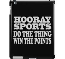 Hooray sports win points geek funny nerd iPad Case/Skin