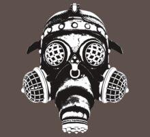 Steampunk/Cyberpunk Gas Mask #1A One Piece - Short Sleeve