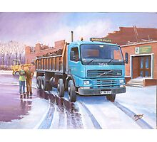 Volvo tipper Photographic Print