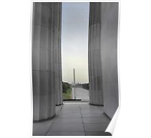 Washington Monument from the Lincoln Memorial Poster