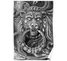 Lion Crypt Door Knocker  Poster