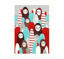 Gingerbread Spirits Art Print