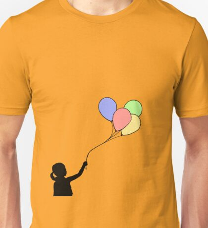 Balloon Girl - Black Fill Unisex T-Shirt