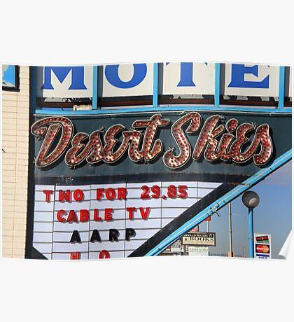 Route 66 - Desert Skies Motel Poster