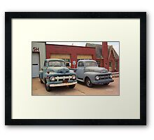 Route 66 Classic Cars Framed Print