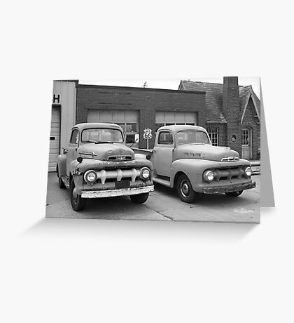 Route 66 Classic Cars Greeting Card