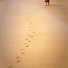 little footprints in the sand by heatherbyrne