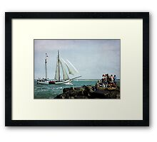 Watching&Sailing Framed Print