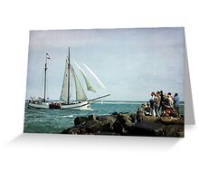 Watching&Sailing Greeting Card