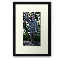 A Soldier Framed Print