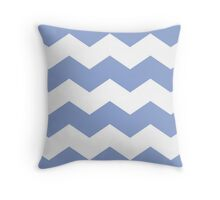 Periwinkle Chevron Print Throw Pillow