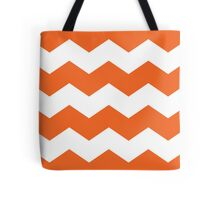 Persimmon / Burnt Orange Chevron Print Tote Bag