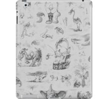 Fantasy creatures sketches iPad Case/Skin
