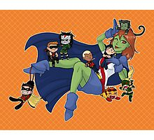 Young Justice Chibi Attack Photographic Print