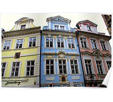 Prague - Facades Poster