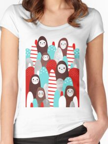 Gingerbread Spirits Women's Fitted Scoop T-Shirt
