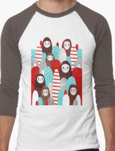 Gingerbread Spirits Men's Baseball ¾ T-Shirt