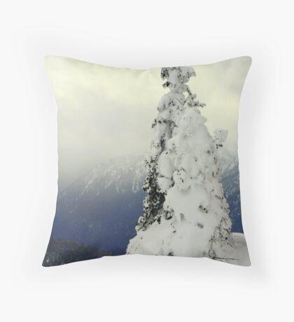 """""""A Blast of Winter"""" Throw Pillow"""