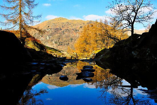 Reflections from the cave (Rydal water) by embracelife
