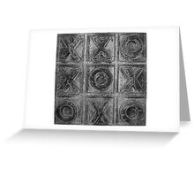 Noughts & Crosses 3 Greeting Card