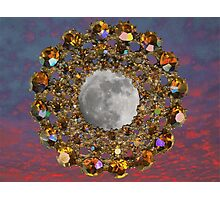 The Moon is encrusted with Jewels. Photographic Print