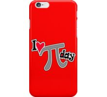 I heart pi day geek funny nerd iPhone Case/Skin