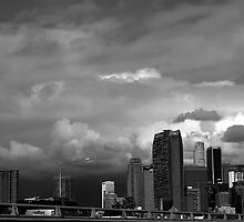 Downtown Los Angeles between storms by kyleO