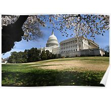 The United States Capital - Washington D.C.  -  A Celebration of Spring Poster