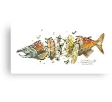 Salmon Sandwich Canvas Print