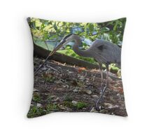 The Hunt For Nest Materials Throw Pillow