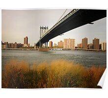 Autumn Under the Manhattan Bridge Poster