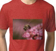 Bee on sedum Tri-blend T-Shirt