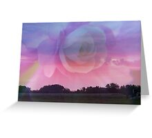Flower Rays and Clouds Greeting Card