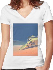 Dune walker Women's Fitted V-Neck T-Shirt