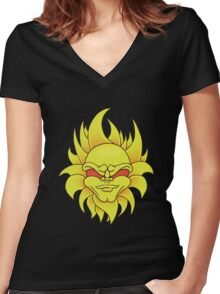 Mean Sun Women's Fitted V-Neck T-Shirt