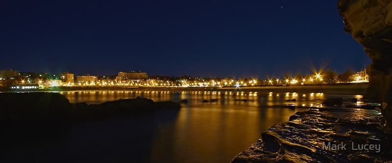 Coogee Bay by Night by Mark  Lucey