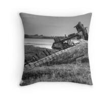 Beached Whale - Fleetwood Marsh, Blackpool Throw Pillow