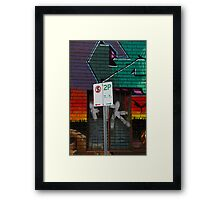 Signs Of Suburbia Framed Print