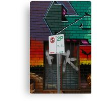 Signs Of Suburbia Canvas Print